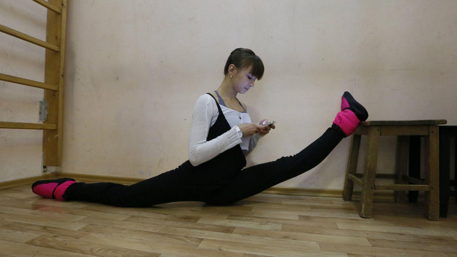 yogi on phone